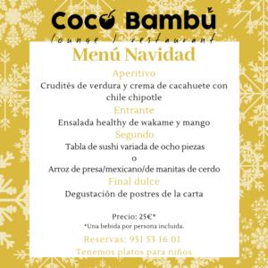 Almuerzo de Navidad Coco Bambú