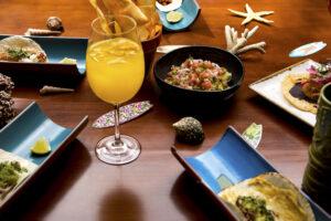 Tacos mexicanos y guacamole del restaurante Coco Bambú.